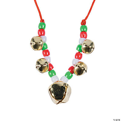 Beaded Jingle Bell Necklace Craft Kit - 48