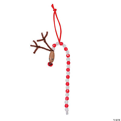 Beaded Reindeer Christmas Ornament Craft Kit