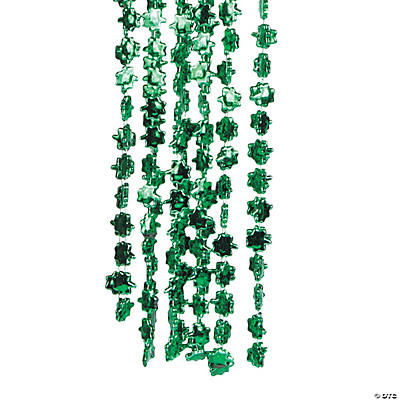 Beaded Shamrock Necklaces