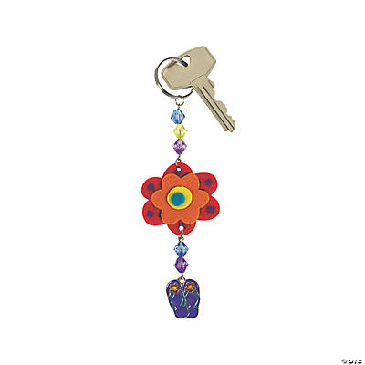 Beaded Summer Key Chain Craft Kit