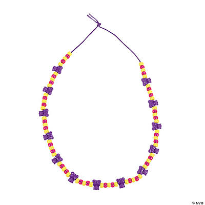 Beaded Teddy Bear Necklace Craft Kit