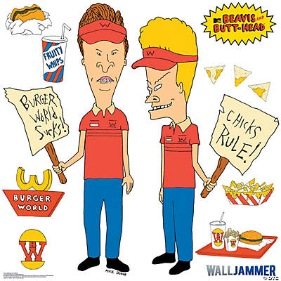 Beavis And ButtHead Burger World Wall Jammer Wall Decal – Beavis and Butthead Birthday Card