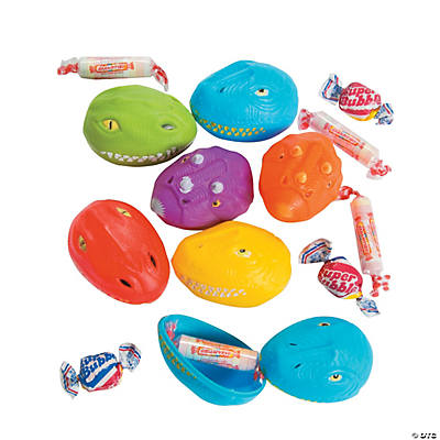 BeeR Candy Filled Dinosaur Head Plastic Easter Eggs