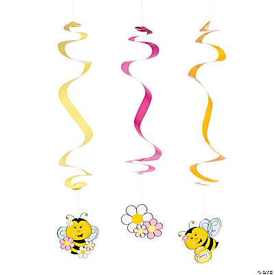 Bee Party Hanging Swirls
