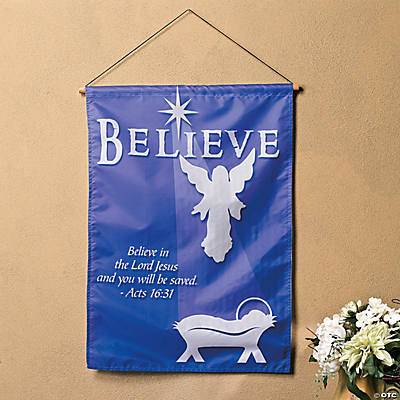 """Believe"" Angel Banner"