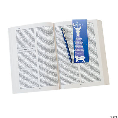 """Believe"" Holiday Pen & Religious Bookmark Sets"