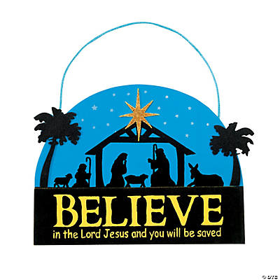"""Believe"" Nativity Sign Christmas Craft Kit"