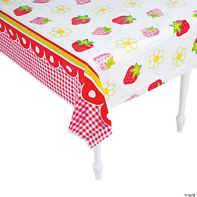 Berry 1st Birthday Plastic Tablecloth