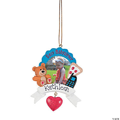 """Best Babysitter"" Personalized Christmas Ornament"