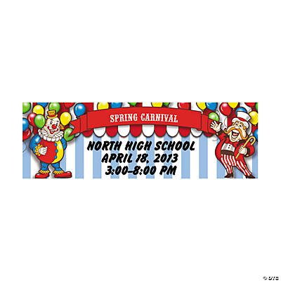 Big Top Personalized Banner - Small