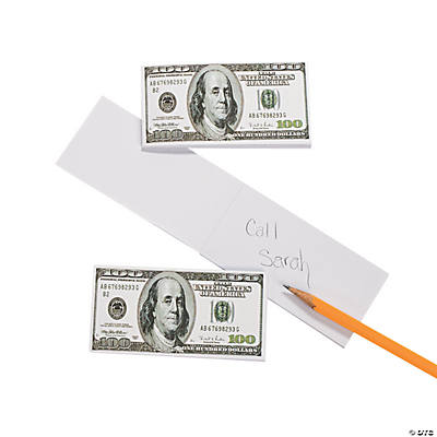 $100 Bill Notepads