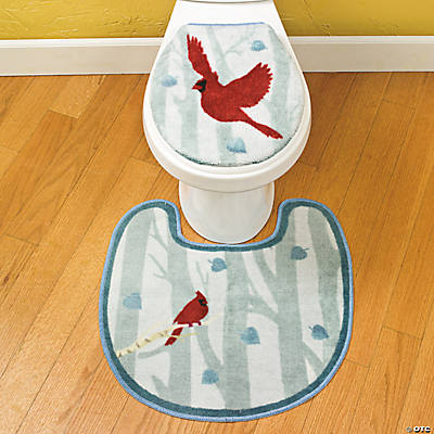 Birch Tree Toilet Lid Cover & Rug