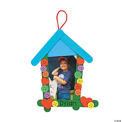 Birdhouse Craft Stick Picture Frame Craft Kit