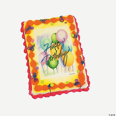 Birthday Balloon Bouquet Edible Image  Cake Decoration ...