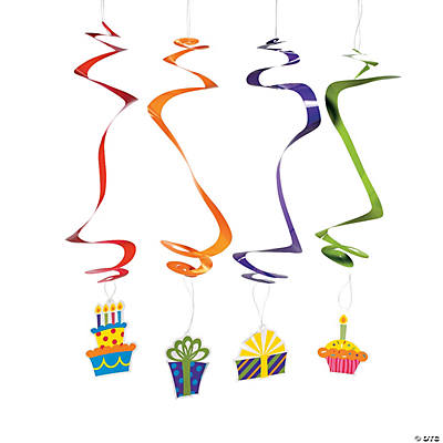 Birthday Celebration Hanging Swirls