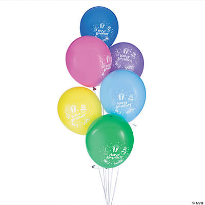 Birthday Celebration Latex Balloons
