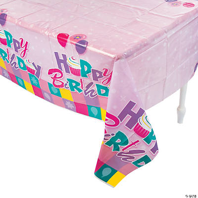 Birthday Cupcake Tablecloth