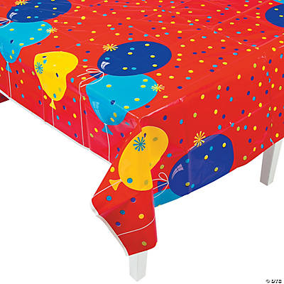 Birthday Fun Plastic Tablecloth