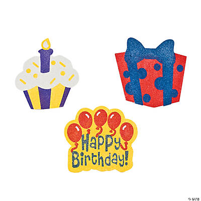 Birthday Sand Art Magnet Craft Kit