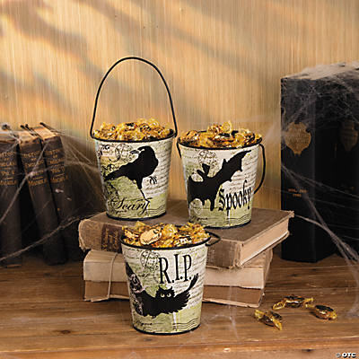 Black & White Halloween Pails