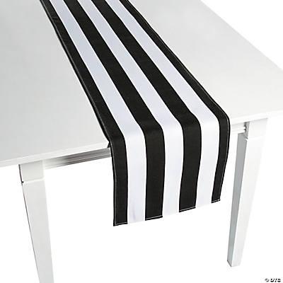 black white striped table runner. Black Bedroom Furniture Sets. Home Design Ideas