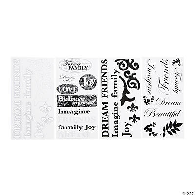 Black & White Title Stickers