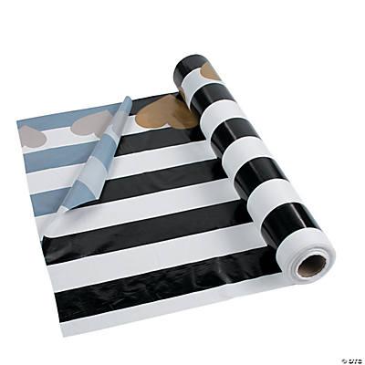 Black U0026 White Valentine Tablecloth Roll