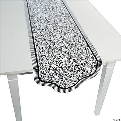 Black & White Wedding Table Runner