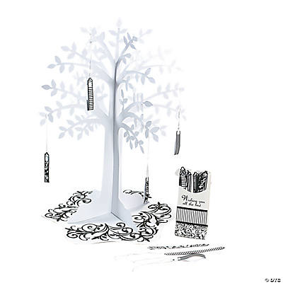 Black & White Wishing Tree Centerpiece