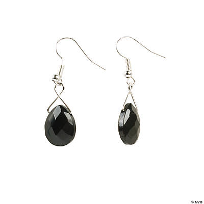 Black Briolette Earrings Idea