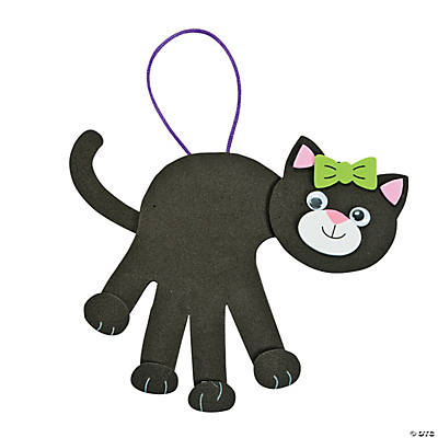 Black Cat Handprint Craft Kit