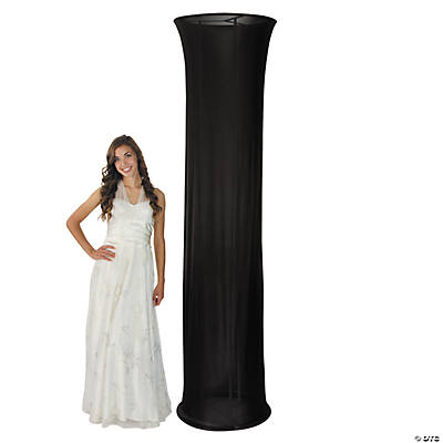 Black Fabric Column Slip