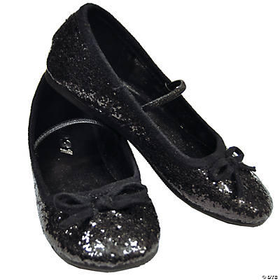 Black Glitter Ballet Shoes