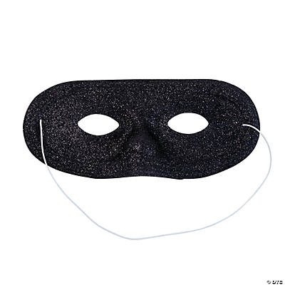 Black Glitter Masks