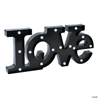 Black Light-Up Love Marquee Sign