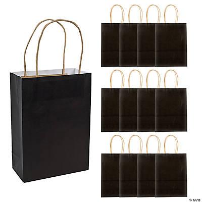 Black Medium Kraft Paper Bags