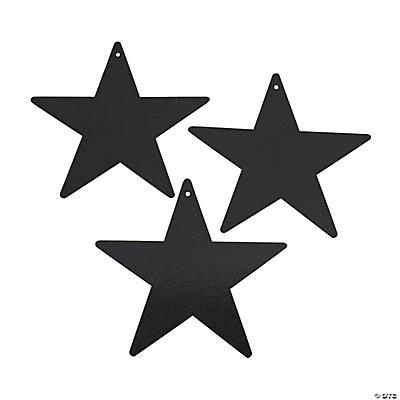 Black Metallic Stars - 9""