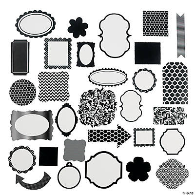 Black Monochromatic Die Cut Shapes