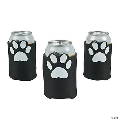 Black Paw Print Can Covers