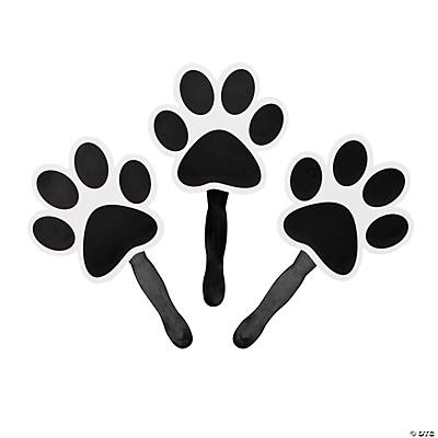 Black Paw-Shaped Fans