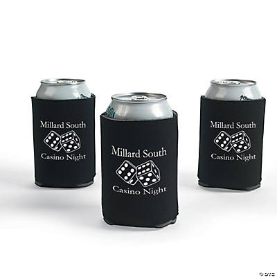 Black Personalized Casino Can Covers