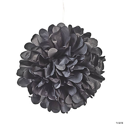 Black Pom-Pom Tissue Decorations