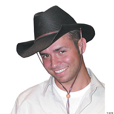 Black Rolled Cowboy Hat