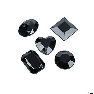 Black Shaped Adhesive Jewels