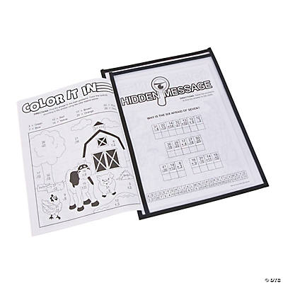 Black Side-Loading Dry Erase Sleeves