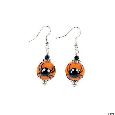 Black Spider Lampwork Earring Kit