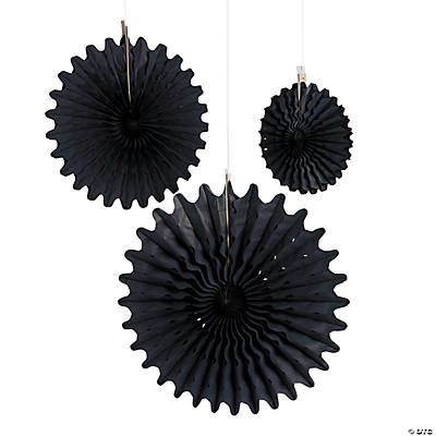 Black Tissue Hanging Fans