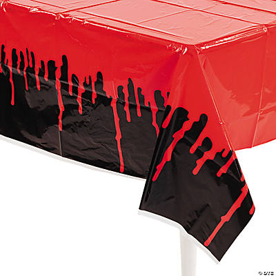 Bloody Plastic Tablecloth