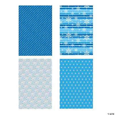 Blue & White Wrapping Paper Assortment