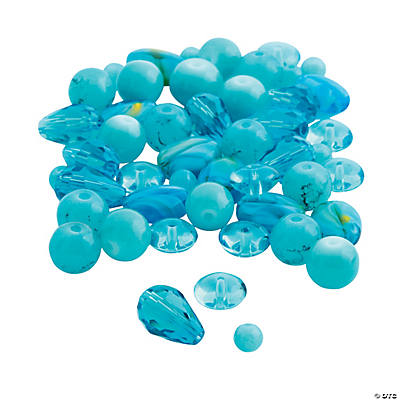 Blue Bead Assortment - 4mm - 12mm